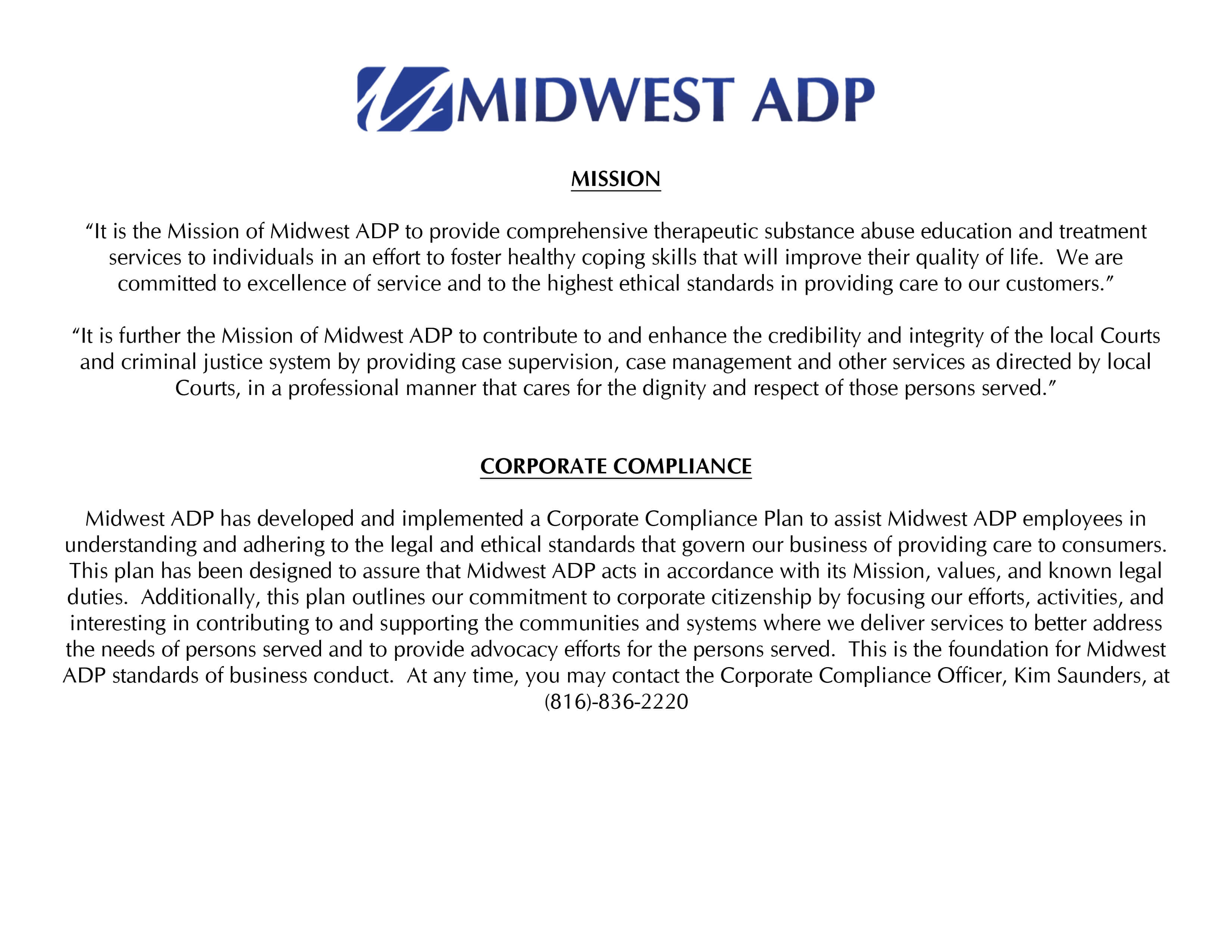 MIDWEST ADP - Forms